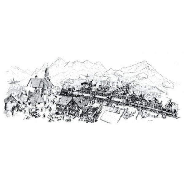 Mrówki opanowały górski pociąg - Sklep Art Puzzle