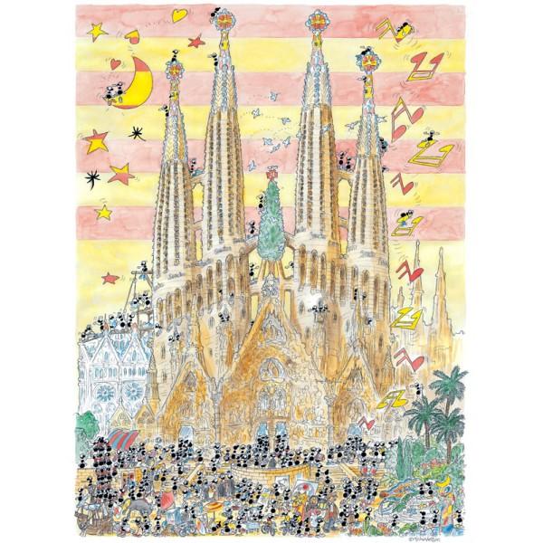 Mrówki turystki zwiedzają Barcelonę - Sklep Art Puzzle