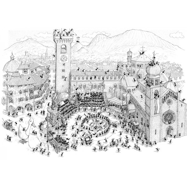 Mrówki organizują turniej rycerski na Plaza Duomo - Sklep Art Puzzle