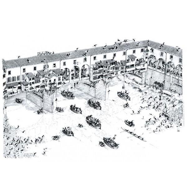 Mrówki turystki na moście Złotników ( Ponte Vecchio )- Florencja - Sklep Art Puzzle