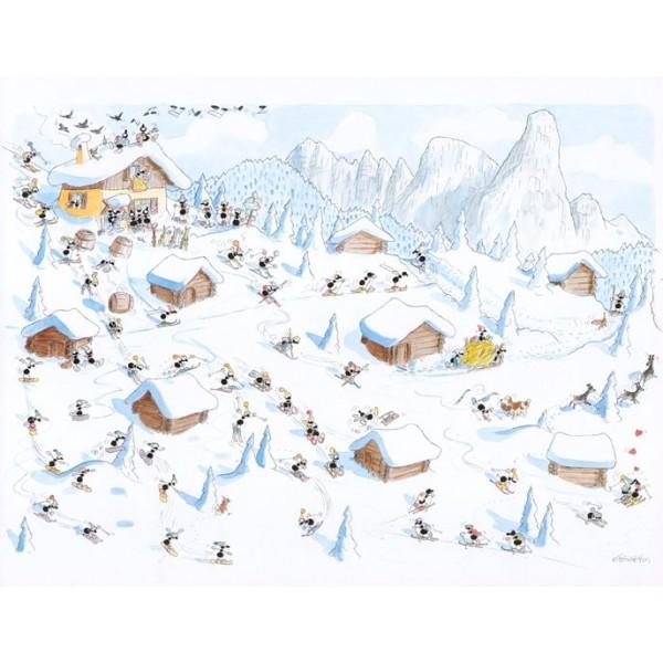 Mrówki zjeżdżają z alpejskiego stoku - Sklep Art Puzzle
