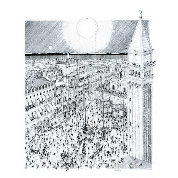 Mrówki bawią się podczas karnawału w Wenecji - Sklep Art Puzzle