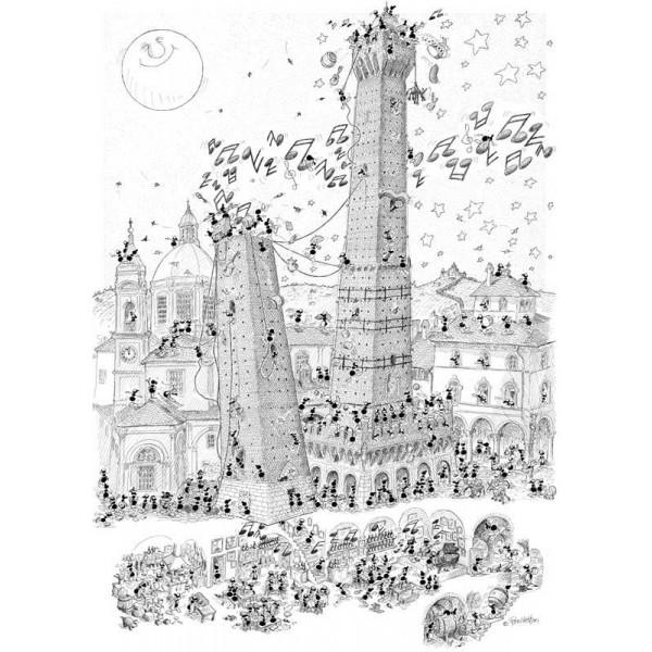 Mrówki turystki  zwiedzają Bolonię - Sklep Art Puzzle