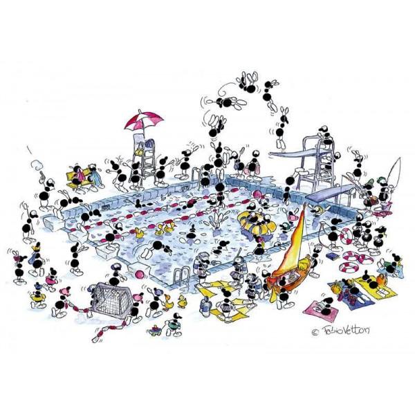 Mrówki odpoczywają na basenie - Sklep Art Puzzle