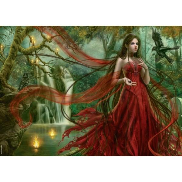 Piękność w czerwieni - Sklep Art Puzzle