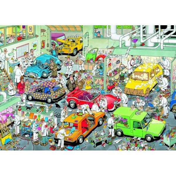 Warszat samochodowy, Jan van Haasteren - Sklep Art Puzzle
