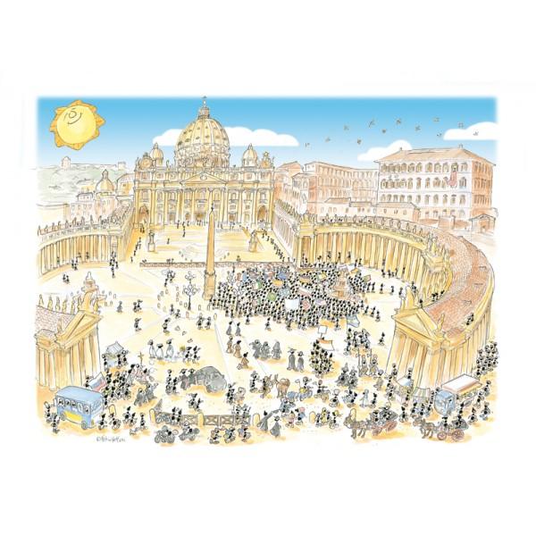 Mrówki na Placu Św. Piotra w Watykanie