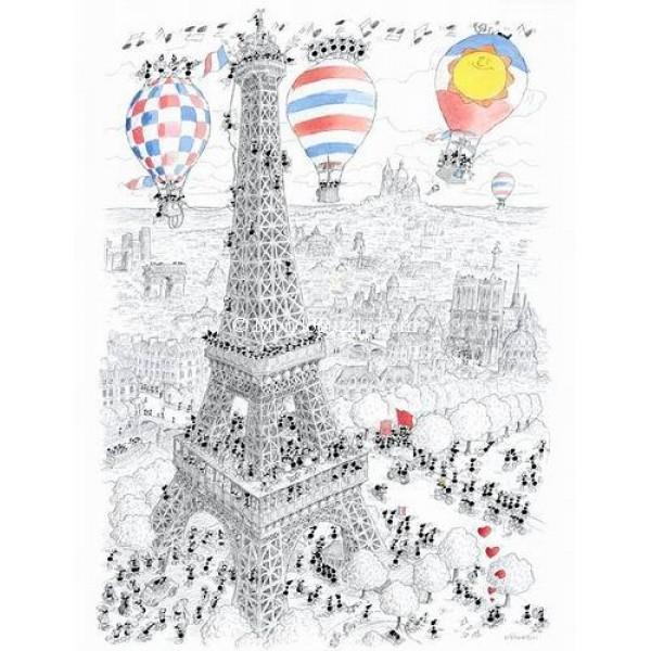 Mrówki zwiedzają Paryż - Sklep Art Puzzle