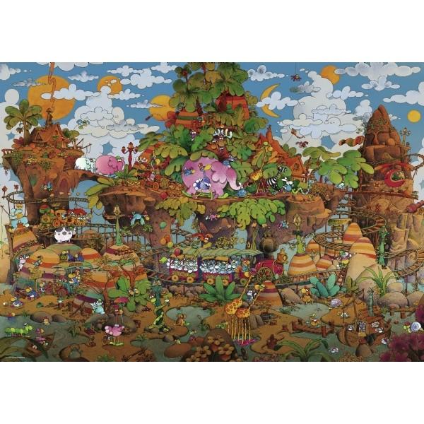 Pociąg pełen zwierzaków, Mordillo - Sklep Art Puzzle