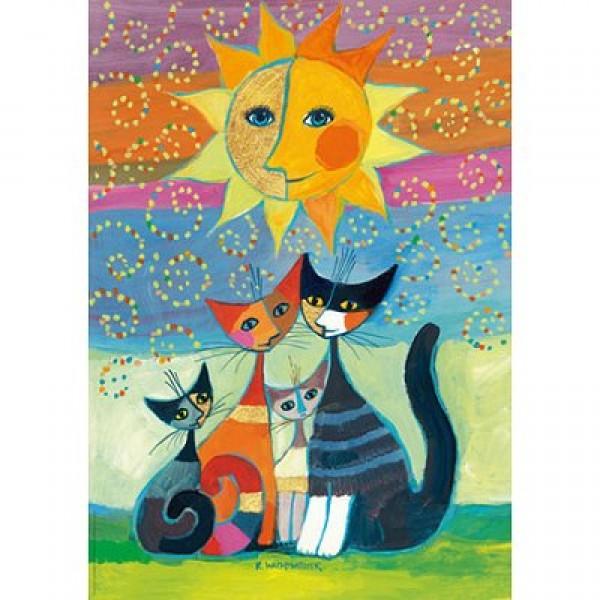 Szczęśliwa rodzinka pod słońcem (Metalizowane), Wachtmeister - Sklep Art Puzzle