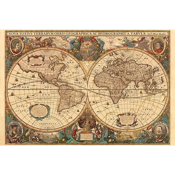 Antyczna Mapa Świata (5000el.) - Sklep Art Puzzle