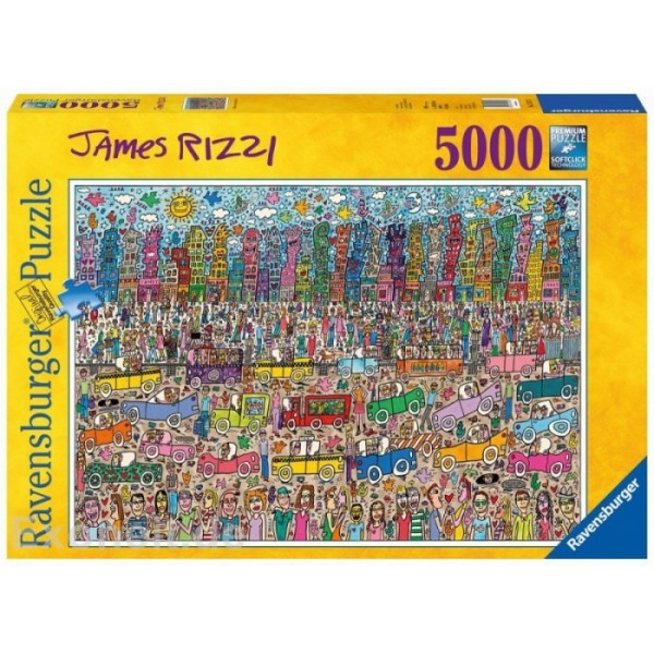 Zatłoczone miasto (5000el.) - Sklep Art Puzzle