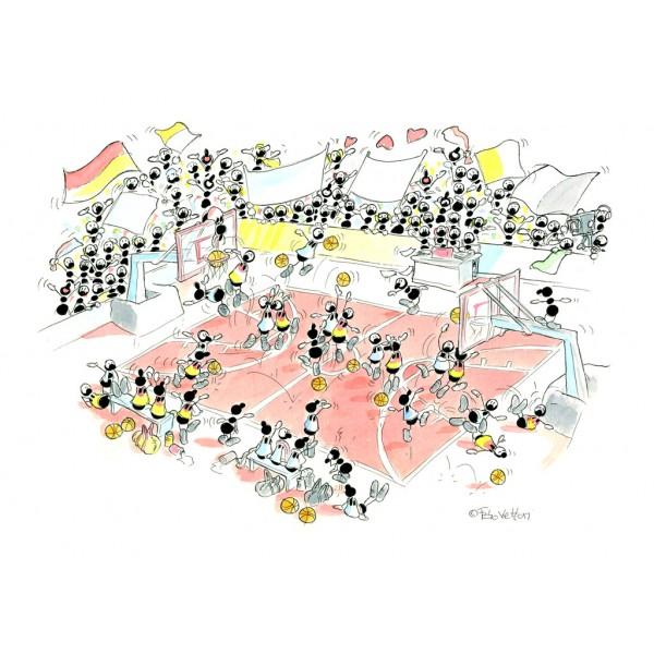 Mrówki grają w koszykówkę - Sklep Art Puzzle