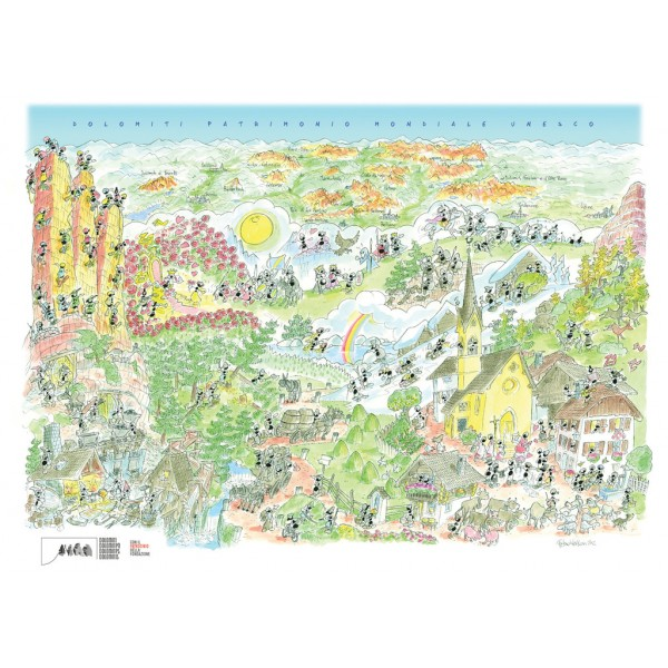 Mrówki na letnich wakacjach w Dolomitach - Sklep Art Puzzle