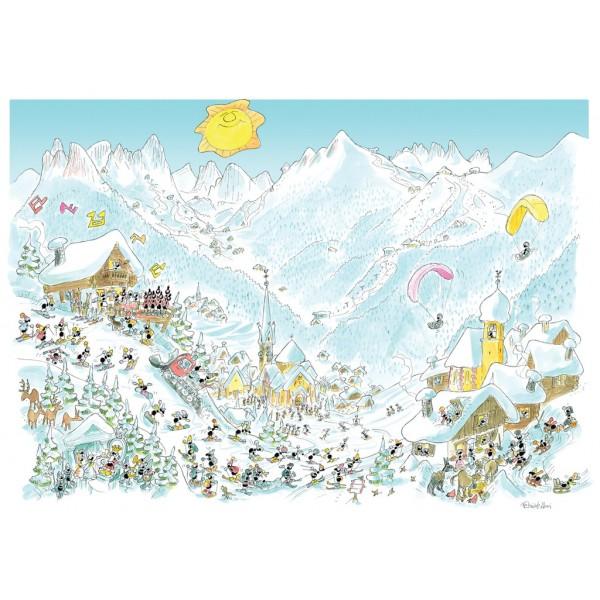 Mrówki na zimowych wakacjach w Dolomitach - Sklep Art Puzzle