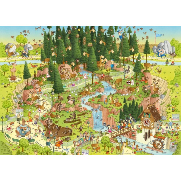 Funky Zoo -część II -  Leśne ZOO, Degano - Sklep Art Puzzle