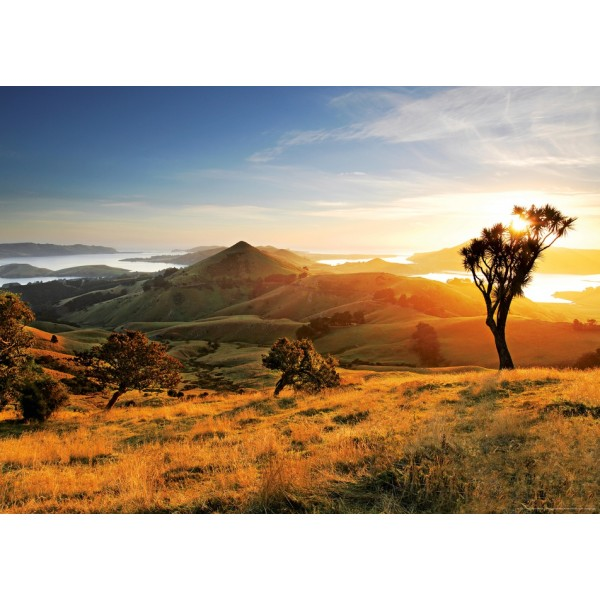 Nowa Zelandia, Półwysep Otago – Zachód słońca - Sklep Art Puzzle