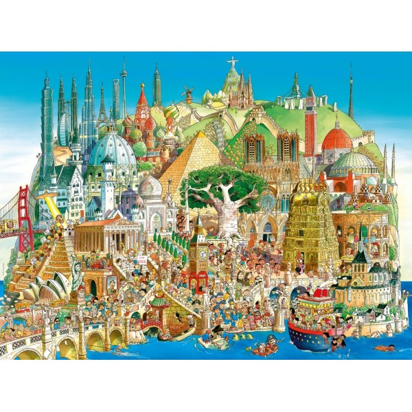 Globalne miasto (Puzzle+plakat) - Sklep Art Puzzle