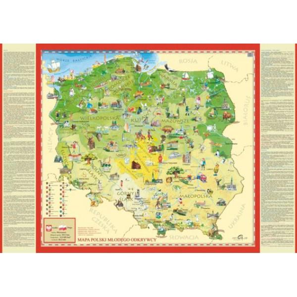 Mapa Polski młodego odkrywcy - Sklep Art Puzzle