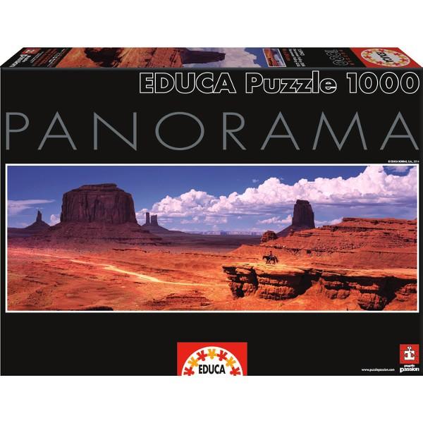 Monument Valley po zachodzie słońca (PUZZLE + KLEJ) - Sklep Art Puzzle