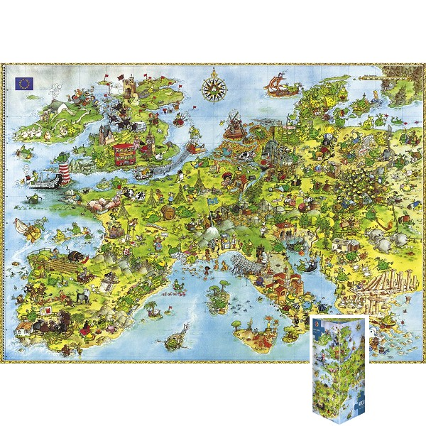 Zjednoczone smoki Europy (Puzzle+plakat), Degano - Sklep Art Puzzle