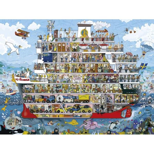 Statek, Lyon ( Puzzle+ plakat ) - Sklep Art Puzzle