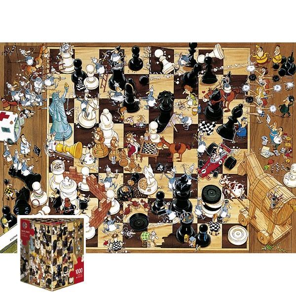 Szalone szachy (Puzzle+plakat) - Sklep Art Puzzle