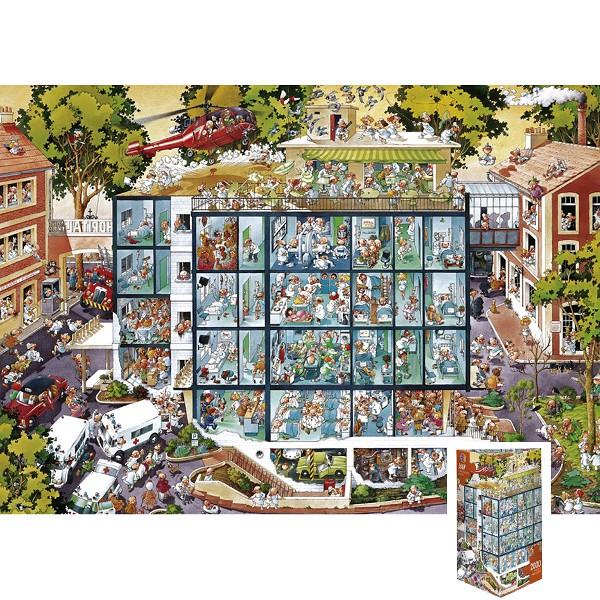 Szalony szpital (Puzzle+plakat) - Sklep Art Puzzle