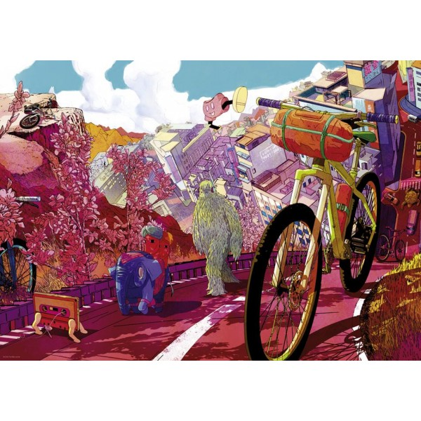 Bike Art, Tour in Pink - Sklep Art Puzzle