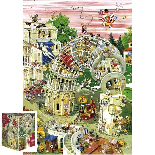 Krzywa Wieża w Pizie (Puzzle+plakat) - Sklep Art Puzzle